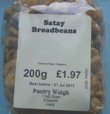 Satay broadbeans