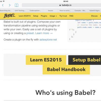 Setup Babel